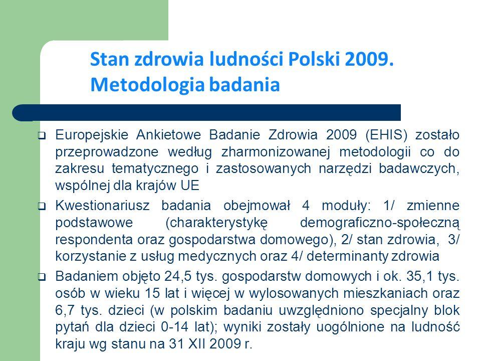 W ciągu ostatnich 5 lat subiektywna ocena stanu zdrowia Polaków poprawiła się.