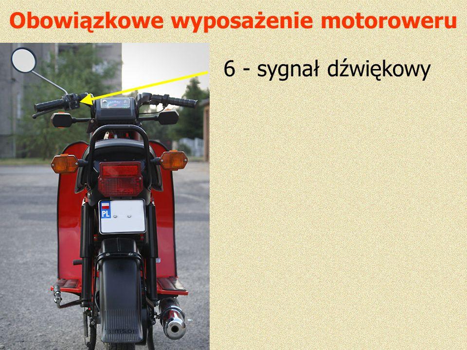 Obowiązkowe wyposażenie motoroweru 6 - sygnał dźwiękowy