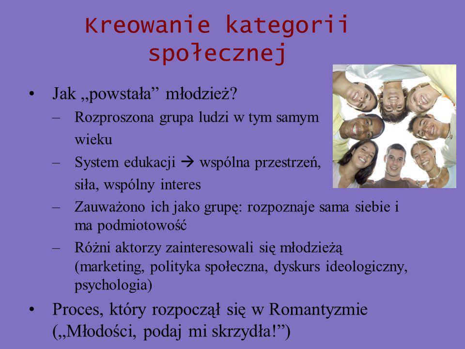 Kreowanie kategorii społecznej Jak powstała młodzież.