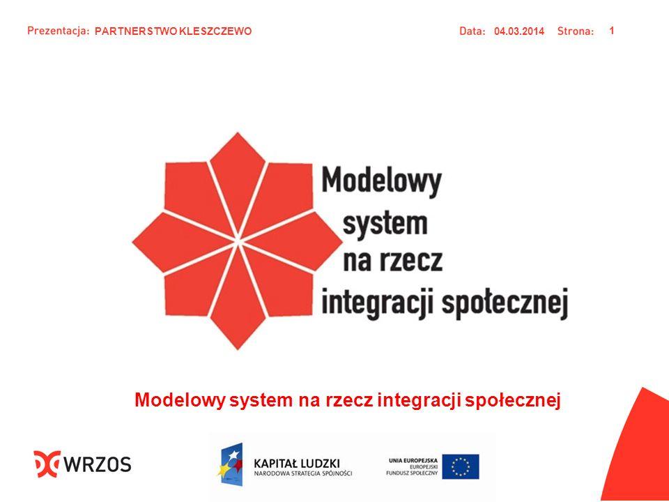 04.03.2014 1 Modelowy system na rzecz integracji społecznej PARTNERSTWO KLESZCZEWO