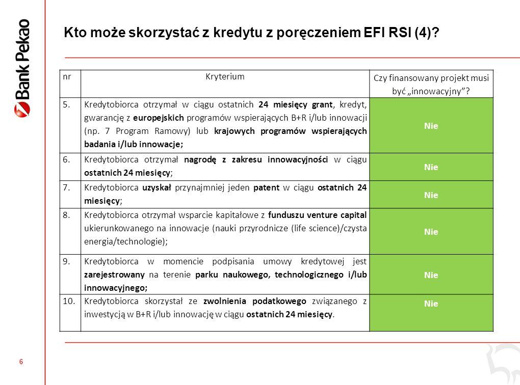 6 Kto może skorzystać z kredytu z poręczeniem EFI RSI (4).