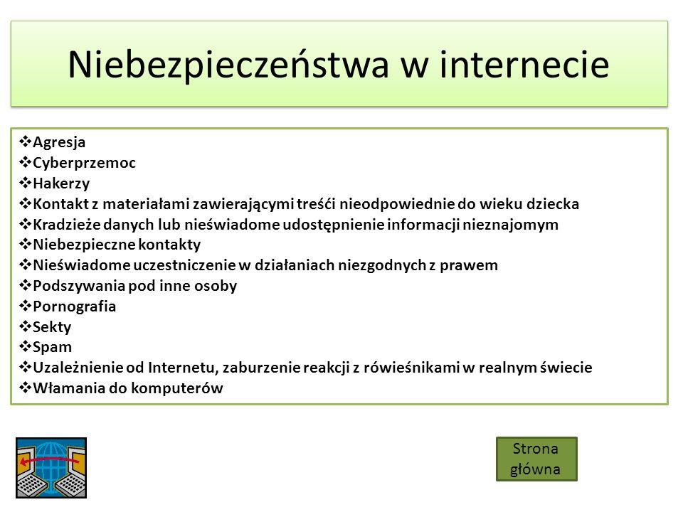 O CZYM BĘDZIE MOWA Niebezpieczeństwa w sieci Dane osobowe w sieci Zasady bezpieczeństwa Komunikatory Zakończenie i Bibliografia Cyberprzemoc Uzależnienia Przydatne strony