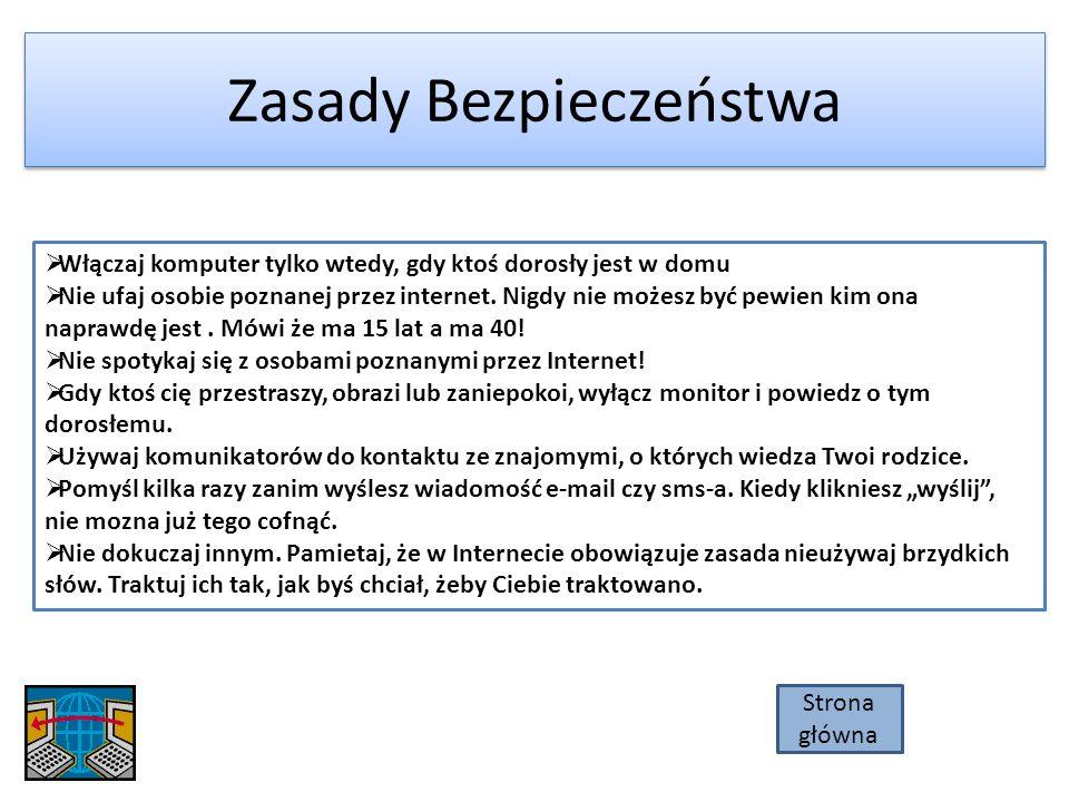 Przygotowała Oliwia Baros W prezentacji wykorzystano: informacje znajdujące się na stronach: www.dzieckowsieci.pl www.pegi.info www.google.pl www.wikipedia.org Dziękuje za obejrzenie prezentacji Strona główna