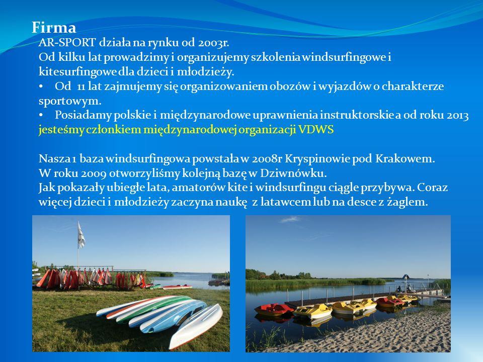 AR-SPORT działa na rynku od 2003r. Od kilku lat prowadzimy i organizujemy szkolenia windsurfingowe i kitesurfingowe dla dzieci i młodzieży. Od 11 lat