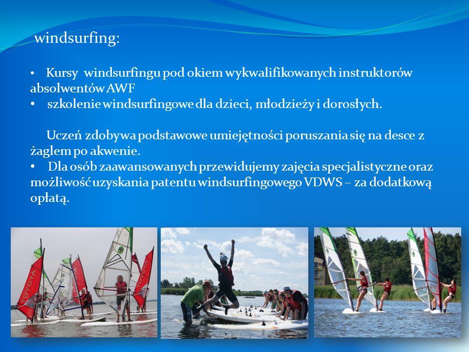 windsurfing: Kursy windsurfingu pod okiem wykwalifikowanych instruktorów absolwentów AWF szkolenie windsurfingowe dla dzieci, młodzieży i dorosłych.