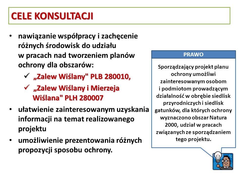 nawiązanie współpracy i zachęcenie różnych środowisk do udziału w pracach nad tworzeniem planów ochrony dla obszarów: Zalew Wiślany