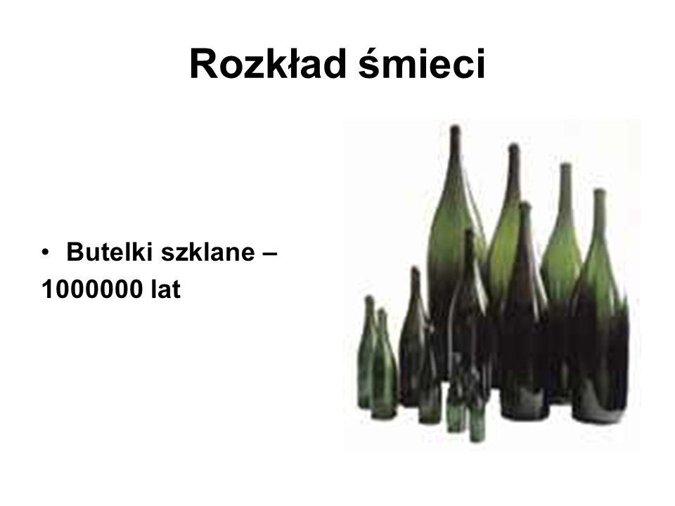 Rozkład śmieci Butelki szklane – 1000000 lat