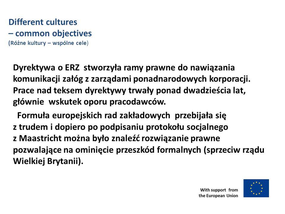 Dyrektywa o ERZ stworzyła ramy prawne do nawiązania komunikacji załóg z zarządami ponadnarodowych korporacji.