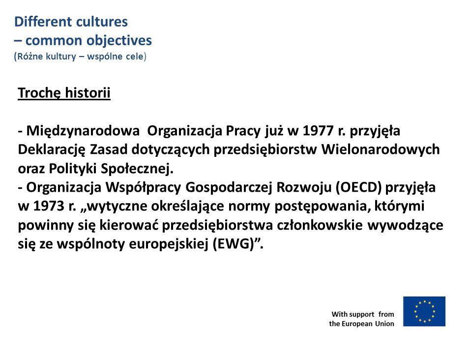 Trochę historii - Międzynarodowa Organizacja Pracy już w 1977 r.