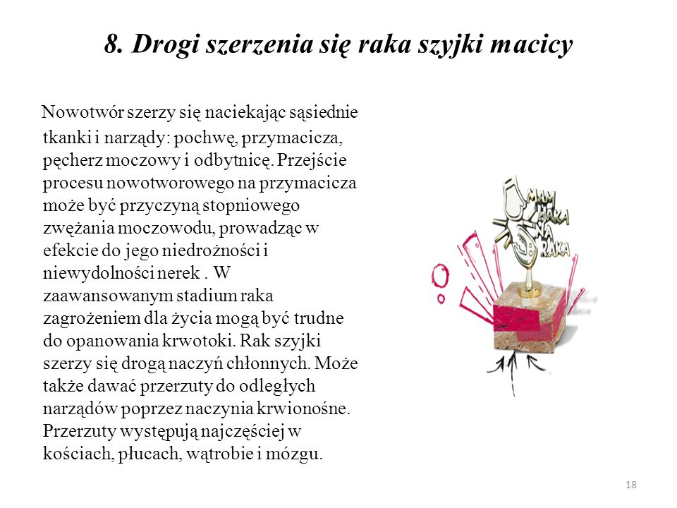 9.Profilaktyka - formy działań w zakresie raka szyjki macicy: A.