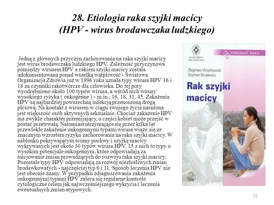 Klasyfikacja stopni zaawansowania klinicznego raka szyjki macicy według Figo 53