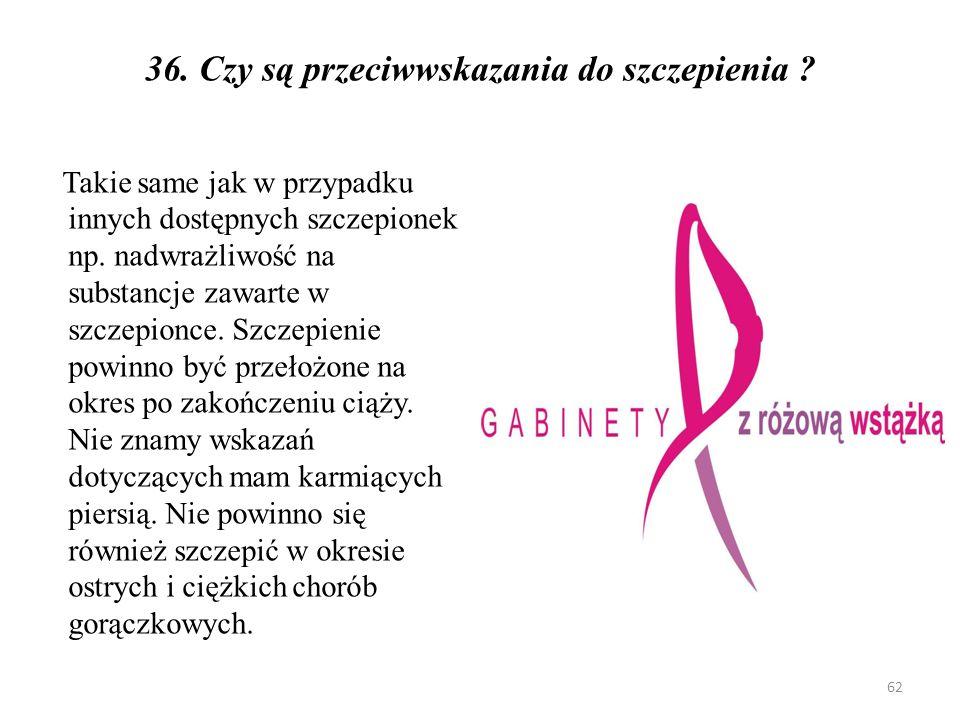 37.W jaki sposób można chronić dziewczynki przed rakiem szyjki macicy, kiedy będą dorosłe .