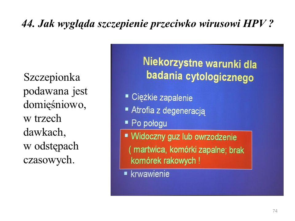 45.Czy przed wykonaniem szczepienia konieczne są jakieś badania .