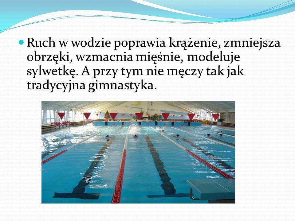 Ruch w wodzie poprawia krążenie, zmniejsza obrzęki, wzmacnia mięśnie, modeluje sylwetkę. A przy tym nie męczy tak jak tradycyjna gimnastyka.