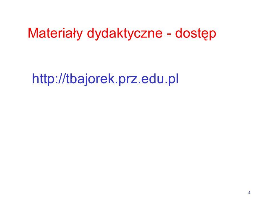 Podręczniki, skrypty, pomoce dydaktyczne: 1.Sikorski W.