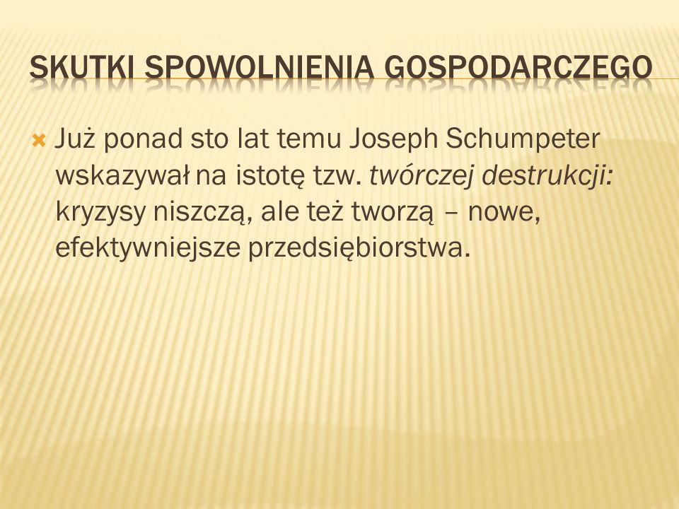 Już ponad sto lat temu Joseph Schumpeter wskazywał na istotę tzw.