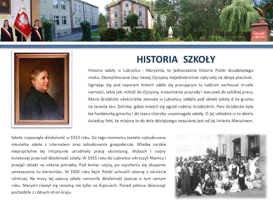 Historia szkoły w Lubrańcu - Marysinie, to jednocześnie historia Polski dwudziestego wieku. Skomplikowane losy naszej Ojczyzny niejednokrotnie wpływał