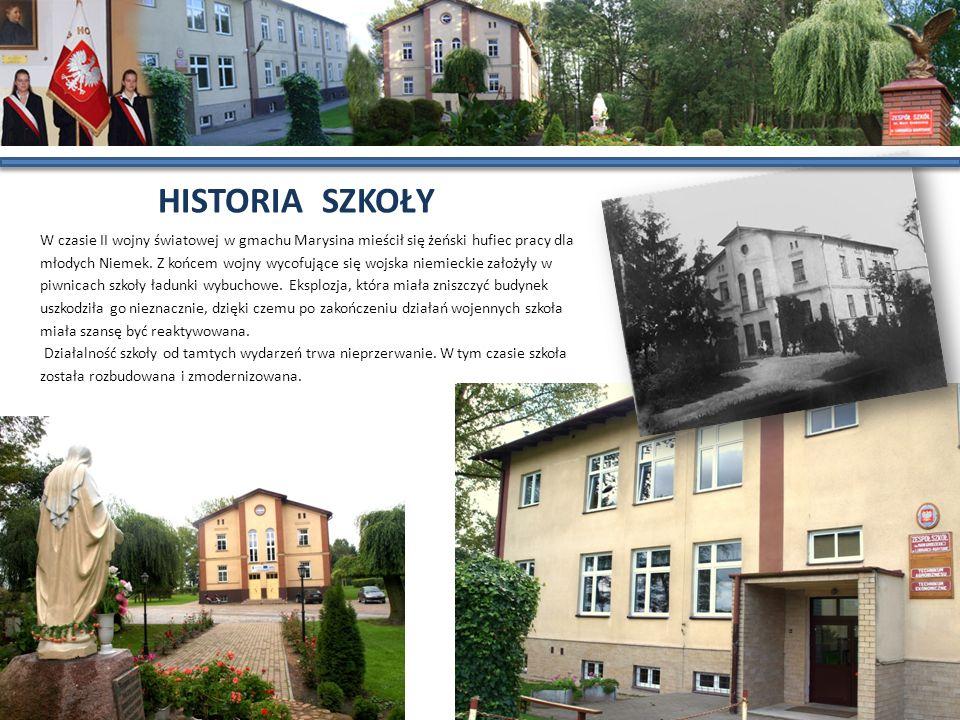 W czasie II wojny światowej w gmachu Marysina mieścił się żeński hufiec pracy dla młodych Niemek. Z końcem wojny wycofujące się wojska niemieckie zało