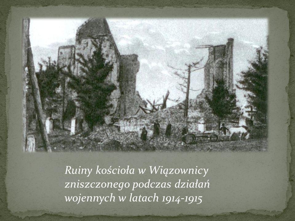 Wierni parafii Wiązownica podczas prac przy fundamentach pod kościół w Manasterzu – 1 września 1937
