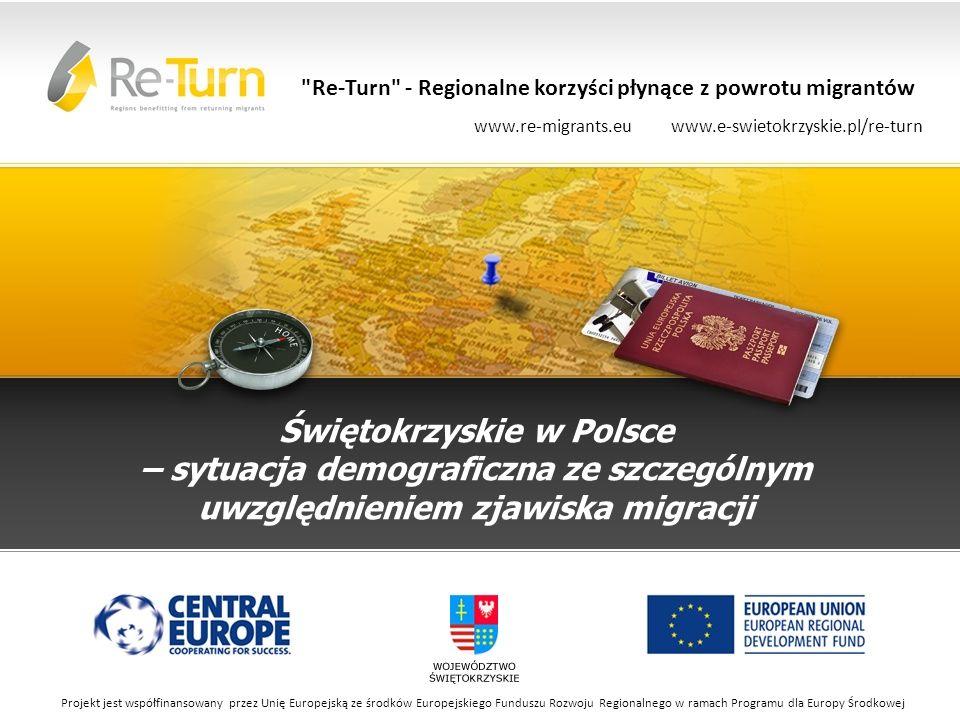 Stan ludności i dynamika zmian Województwo świętokrzyskie na koniec 2012 r.