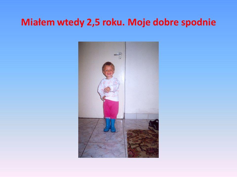 Mały Krzysztof Miałem wtedy 3 lata.Byłem bardzo leniwy i mógłbym całymi dniami spać.