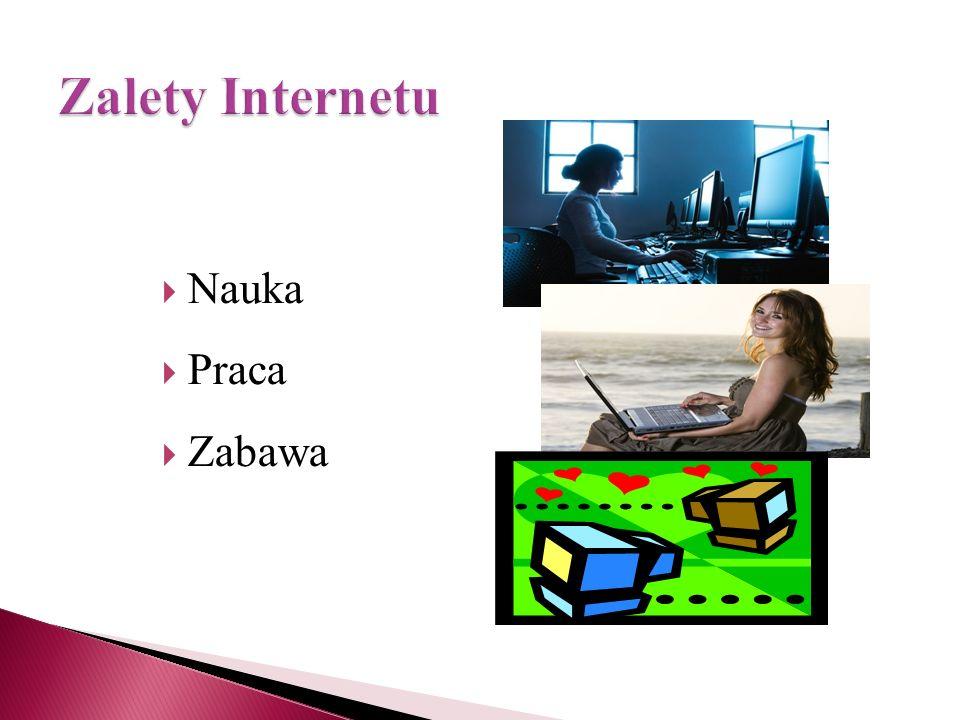 Wirusy Spam Niebezpieczeństwo nawiązania kontaktów z nieodpowiednimi osobami Udostępnienie danych osobowych osobom nieuprawnionym Łamanie prawa (np.