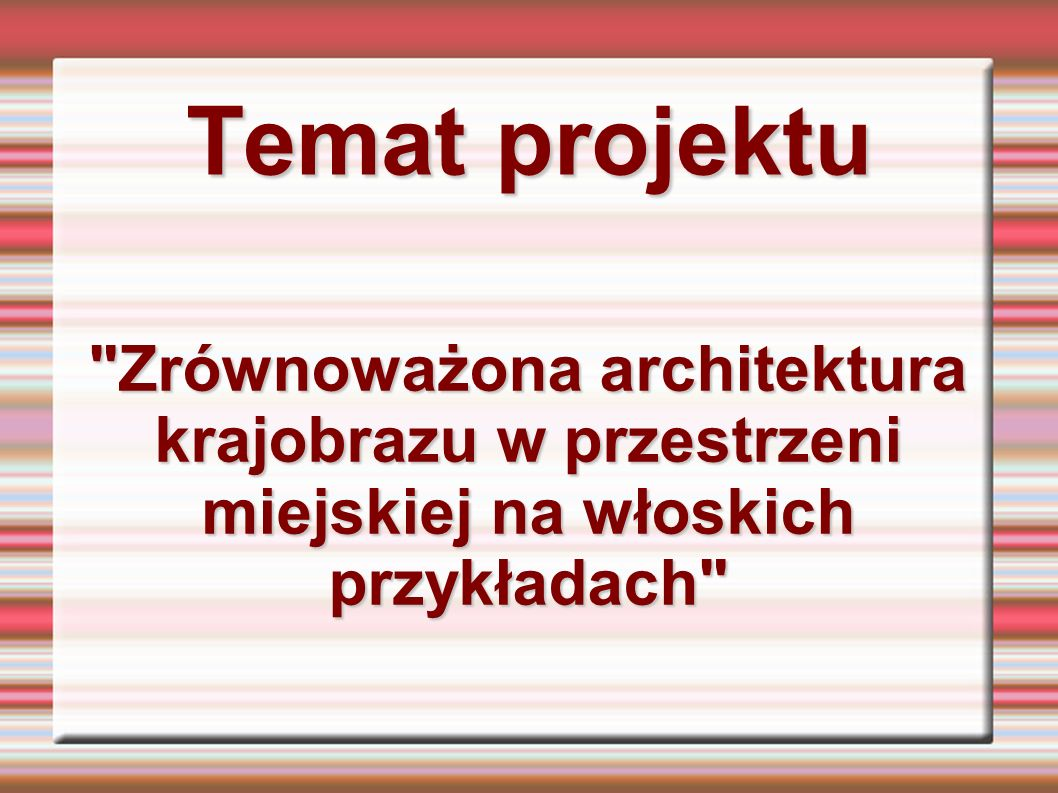 Temat projektu