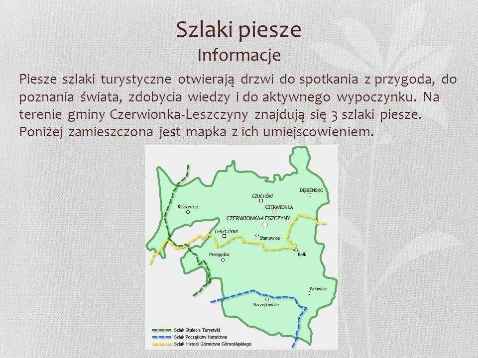 Szlaki rowerowe łacznikowe Informacje Na terenie gminy i miasta Czerwionka-Leszczyny wyznakowano szlaki łacznikowe.