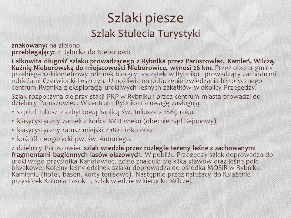 Szlaki rowerowe Informacje Przez teren gminy i miasta Czerwionka-Leszczyny przebiega 5 tras rowerowych, które zostały przygotowane zgodnie z projektem Rowerem po Śląsku, opracowanym na zlecenie Śląskiego Związku Gmin i Powiatów: