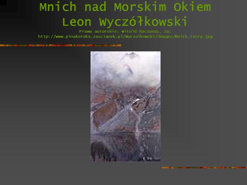 Mnich nad Morskim Okiem Leon Wyczółkowski Prawa autorskie: Witold Raczunas, za: http://www.pinakoteka.zascianek.pl/Wyczolkowski/Images/Mnich_Tatry.jpg