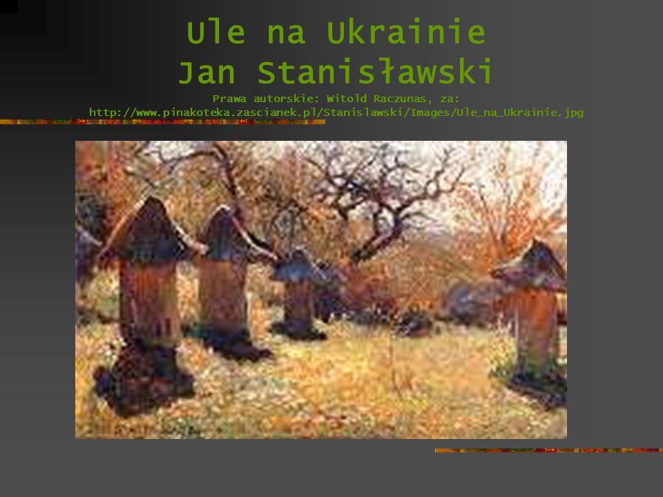 Ule na Ukrainie Jan Stanisławski Prawa autorskie: Witold Raczunas, za: http://www.pinakoteka.zascianek.pl/Stanislawski/Images/Ule_na_Ukrainie.jpg