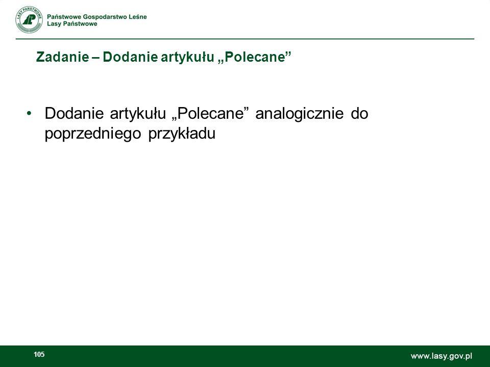 106 Dodawanie banerów w sekcji Polecane