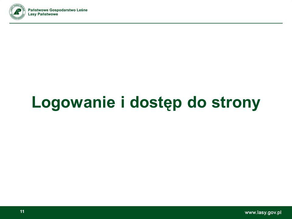 12 Strona logowania Jednostki RDLP w Radomiu – stary PKLP Dostęp poprzez WAN Adres nowych stron: 10.0.253.67/c/portal/login Login: np.