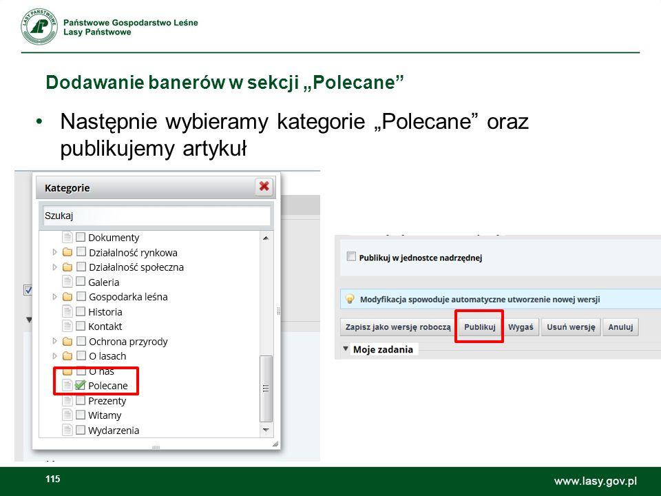 116 Dodawanie banerów w sekcji Polecane prezentacja na stronie głównej