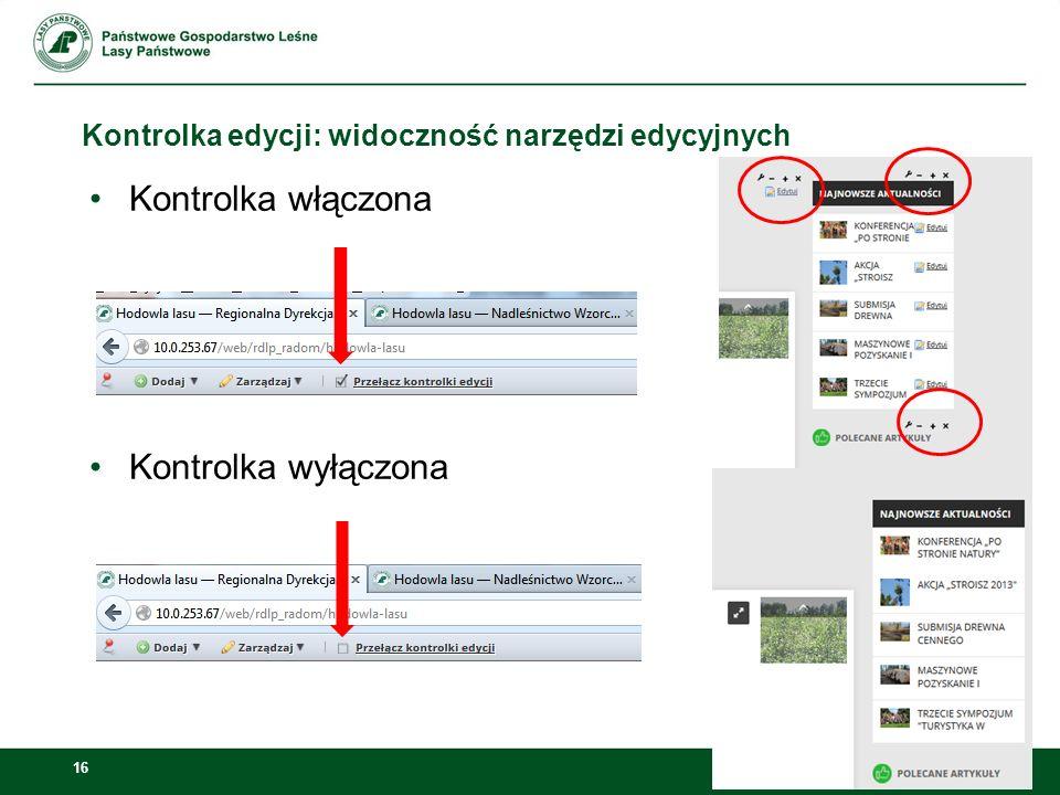 17 Strony publiczne Jednostki, które korzystają ze starego PKLP (RDLP w Radomiu) działają na stronach publicznych!!!!