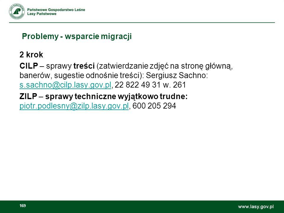 170 E-learning Adres strony: e-learning.zilp.lasy.gov.pl Nazwa użytkownika: adres e-mail Hasło: Szkolen!ePKLP Serwis: demo Nowe osoby do e-learningu: piotr.podlesny@zilp.lasy.gov.pl
