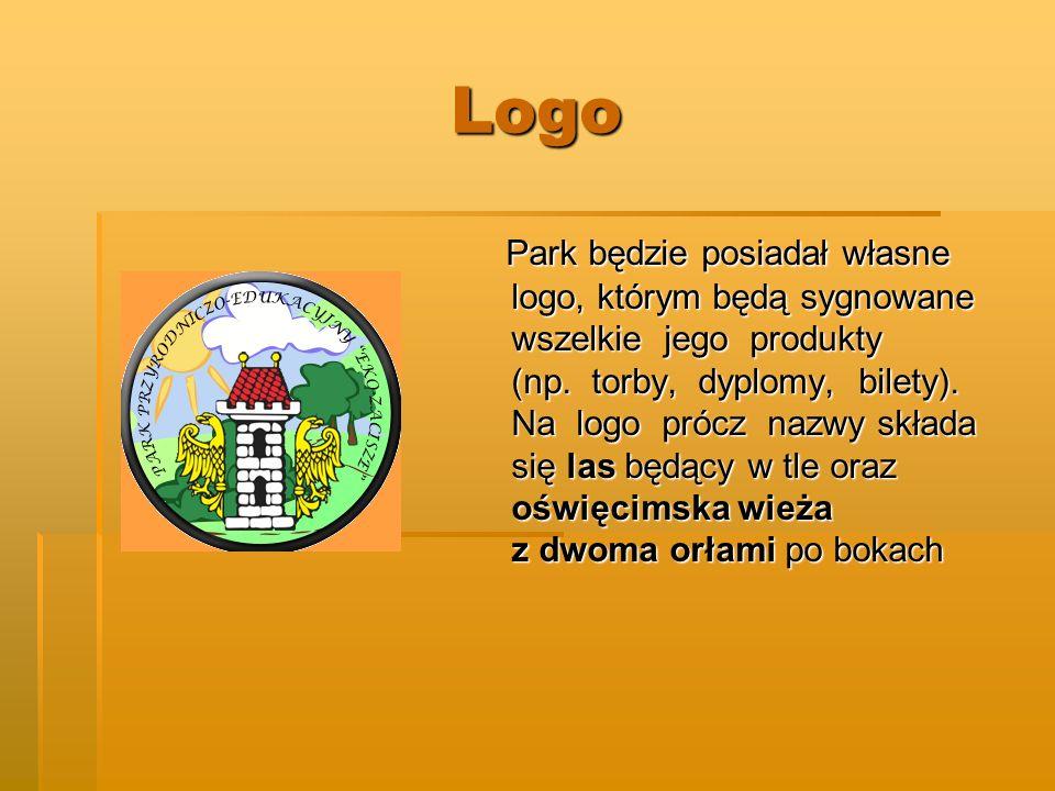 Logo Park będzie posiadał własne logo, którym będą sygnowane wszelkie jego produkty (np. torby, dyplomy, bilety). Na logo prócz nazwy składa się las b