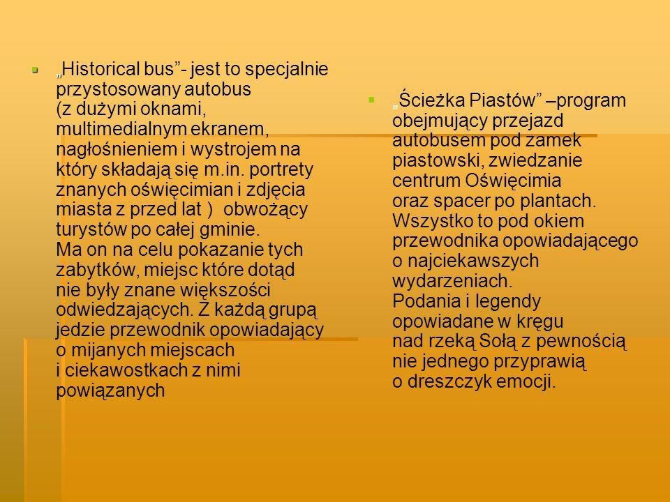 Pomysł drugi… Park przyrodniczo – edukacyjny EKO – ZACISZE Park na terenie gminy Oświęcim, który kryje w sobie wiele atrakcji: -obsadzony różnorodną roślinnością odpowiednią dla naszego klimatu, pomaga się zrelaksować -ustawione w koło drewniane ławeczki są miejscem spotkań osób żądnych wiedzy (na wolnym powietrzu odbywają się wykłady i zajęcia głównie z zakresu ekologii) -każdy odwiedzający będzie mógł zamówić sobie gorącą herbatkę wybraną spośród tysiąca możliwych smaków i gatunków