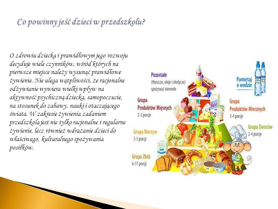 O zdrowiu dziecka i prawidłowym jego rozwoju decyduje wiele czynników, wśród których na pierwsze miejsce należy wysunąć prawidłowe żywienie. Nie ulega