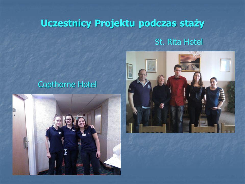 Uczestnicy Projektu podczas staży Copthorne Hotel St. Rita Hotel
