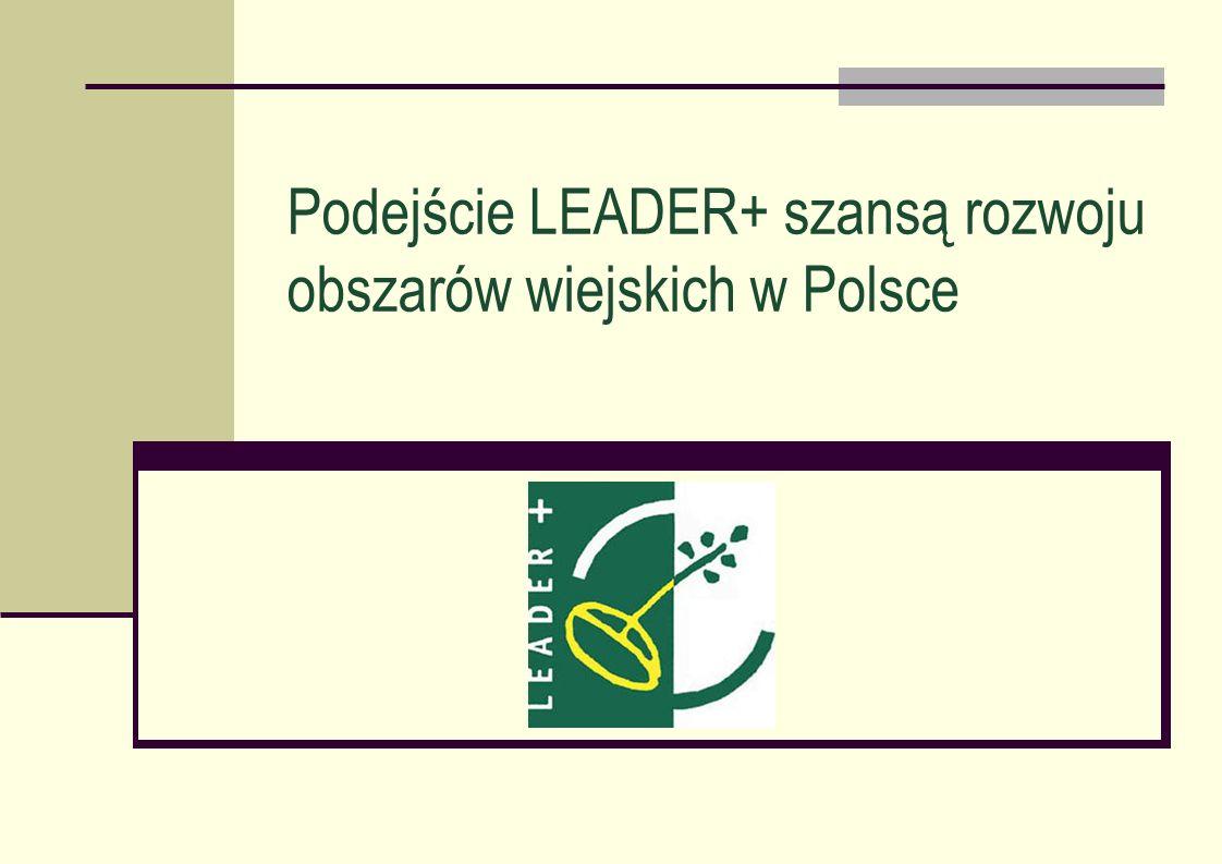 Podejście LEADER+ szansą rozwoju obszarów wiejskich w Polsce