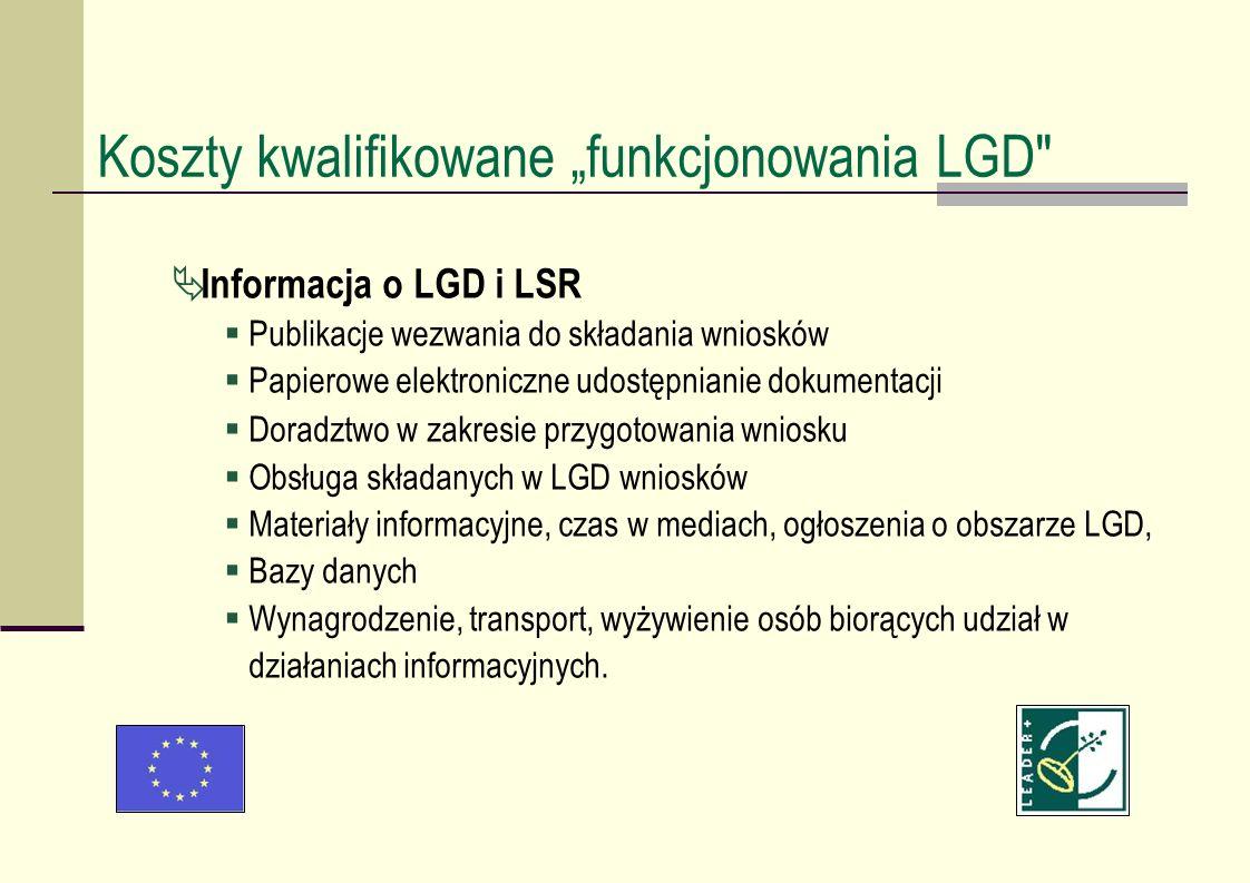 Informacja o LGD i LSR Publikacje wezwania do składania wniosków Papierowe elektroniczne udostępnianie dokumentacji Doradztwo w zakresie przygotowania