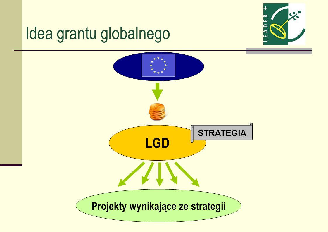 Idea grantu globalnego LGD Projekty wynikające ze strategii STRATEGIA