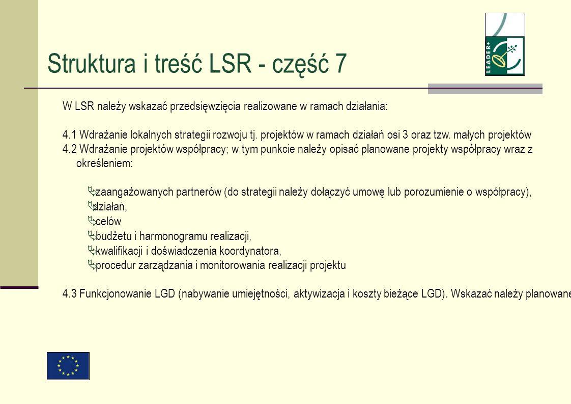 W LSR należy wskazać przedsięwzięcia realizowane w ramach działania: 4.1 Wdrażanie lokalnych strategii rozwoju tj. projektów w ramach działań osi 3 or