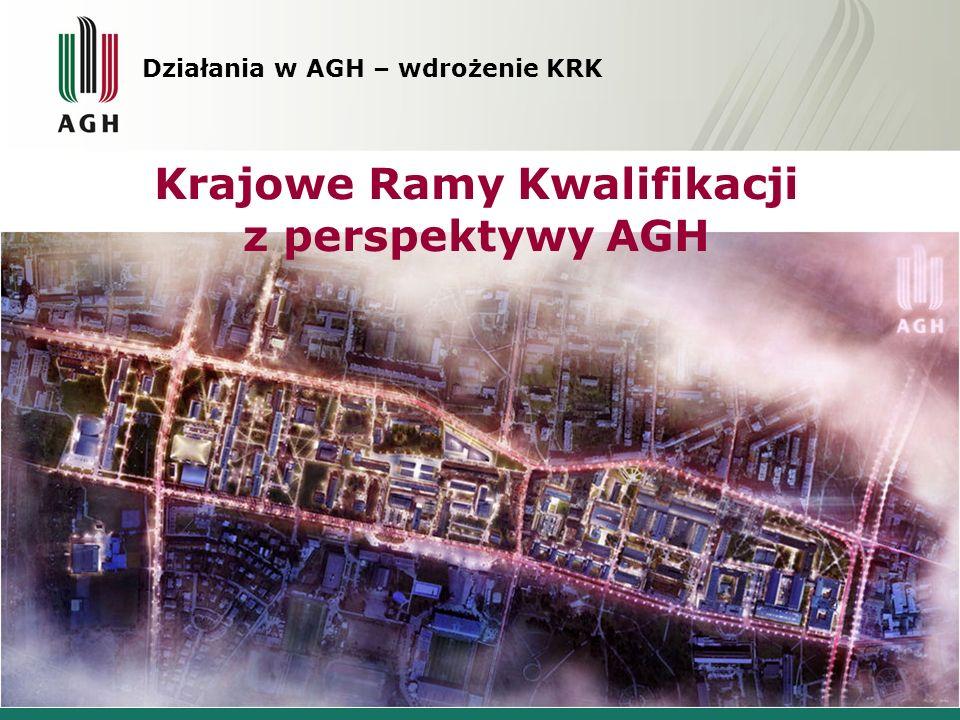 Działania w AGH – wdrożenie KRK Krajowe Ramy Kwalifikacji z perspektywy AGH