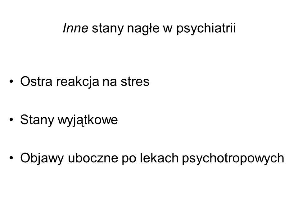 Przyczyny dezorganizacji zachowania Najczęściej: –Zaburzenia świadomości (różnej etiologii) –Głębokie zaburzenia pamięci (różnej etiologii) Otępienie, zesp.amnestyczny, zab.dysocjacyjne –Zaburzenia organiczne (zwłaszcza z afazją) –Zaostrzenia przewlekłej schizofrenii –Pobudzenie psychoruchowe (różnej etiologii) Subs.