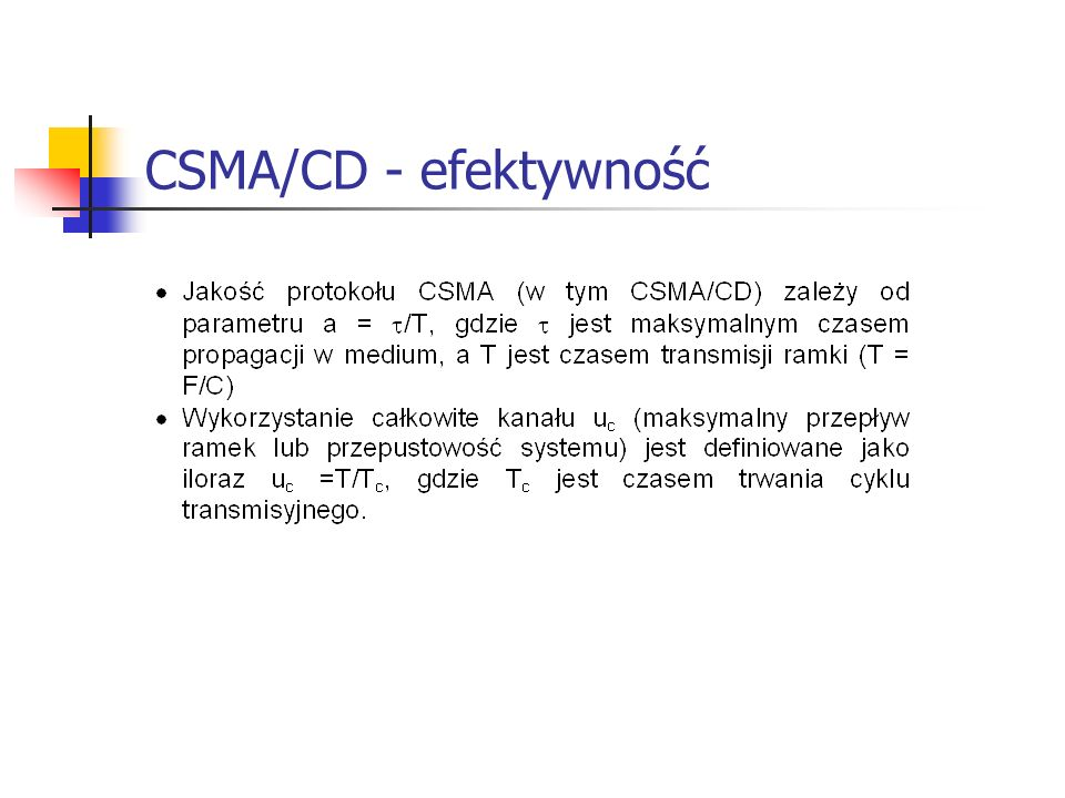 CSMA/CD - efektywność