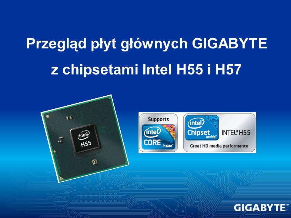 Przegląd płyt głównych GIGABYTE z chipsetami Intel H55 i H57