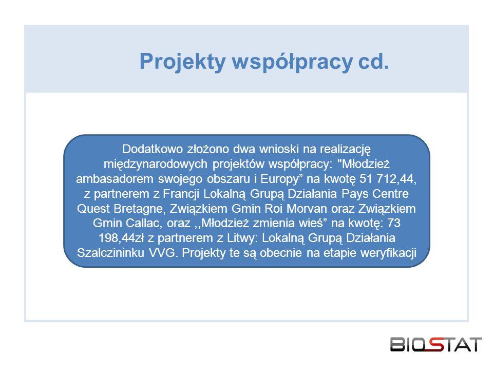 Projekty współpracy cd.