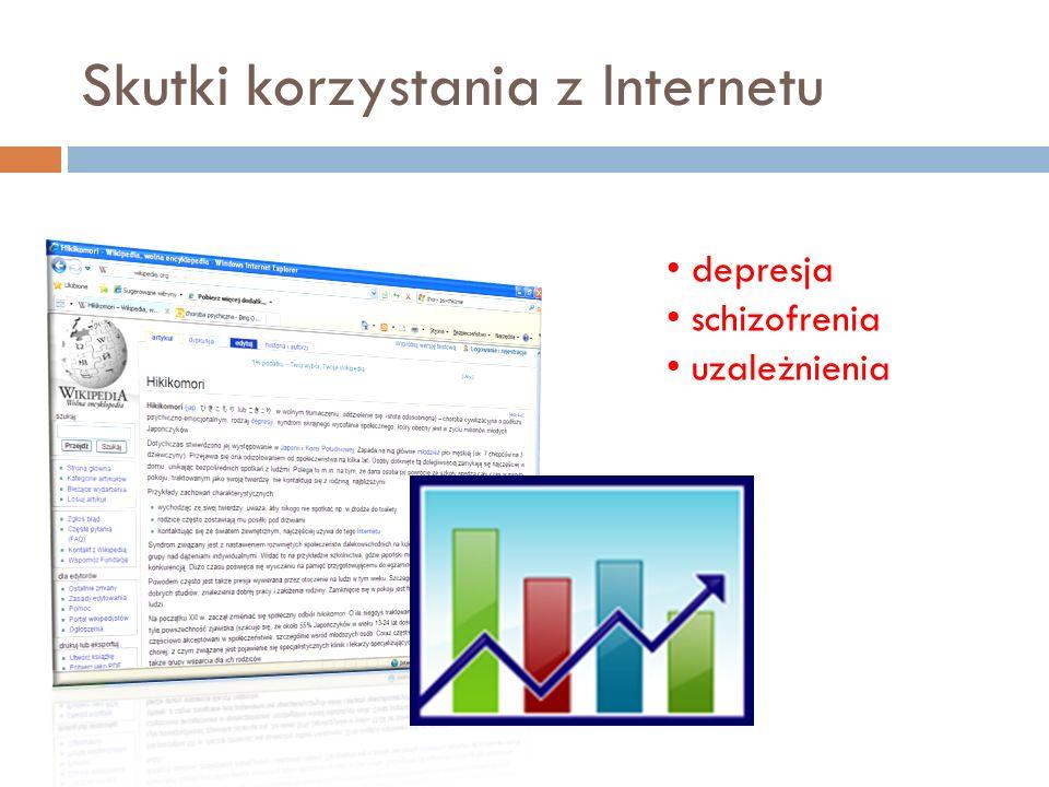 Skutki korzystania z Internetu depresja schizofrenia uzależnienia